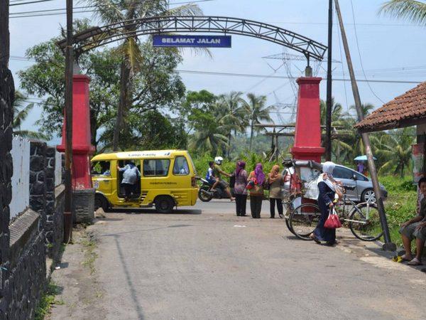 Akses jalan Desa Serang (foto: Desa Serang)