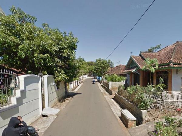 Akses jalan Desa Malaka (foto: Google Street View)