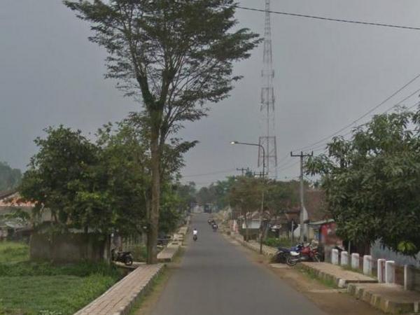 Akses jalan Desa Nagarawangi (foto: Google Street View)