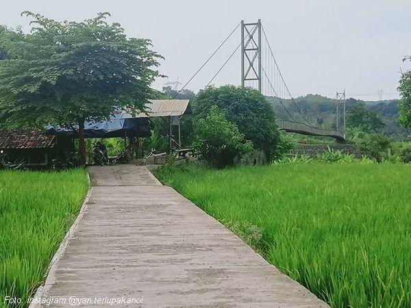 Jembatan kepuh Desa Pamulihan