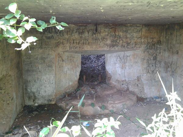 Bagian dalam benteng Darmaga