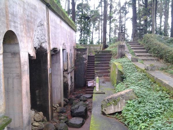 Salah satu sudut bangunan benteng Belanda di Gunung Kunci