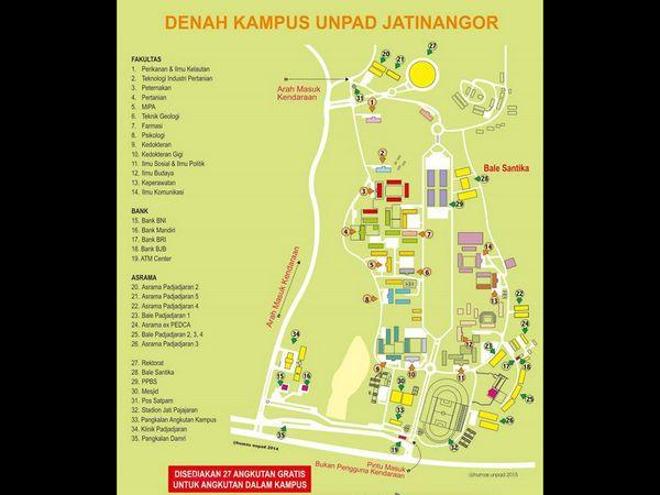 Denah kampus Unpad Jatinangor (gambar: Unpad)