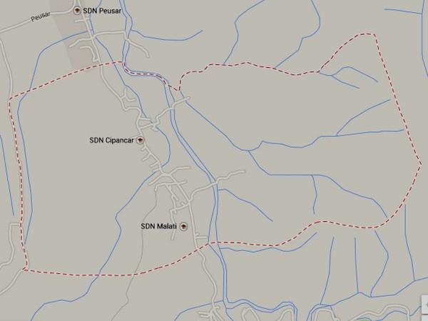 Peta wilayah Desa Cipancar (gambar: Google Maps)