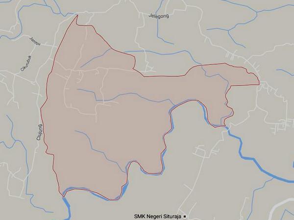 Peta wilayah Desa Cipandanwangi (gambar: Google Maps)