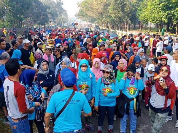 Gerak jalan santai Wartawan Pokja Polres Sumedang
