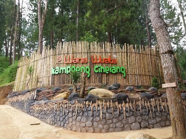 Gerbang Kampoeng Ciherang (foto: blogspot irinerainbow)