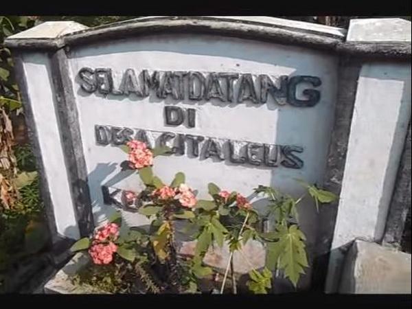Gerbang masuk Desa Citaleus (foto: internet)