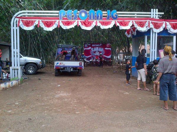 Gerbang masuk Pesona JG (foto: facebook)