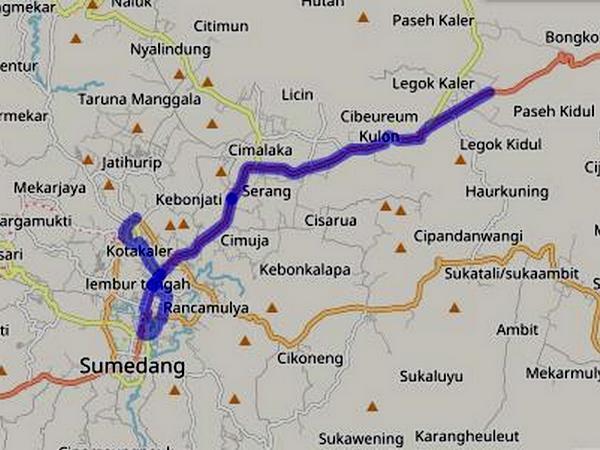 Jalur Angkot 01 Paseh - Sumedang