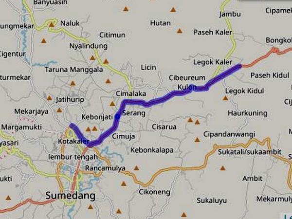 Jalur Angkot 01 Sumedang - Paseh