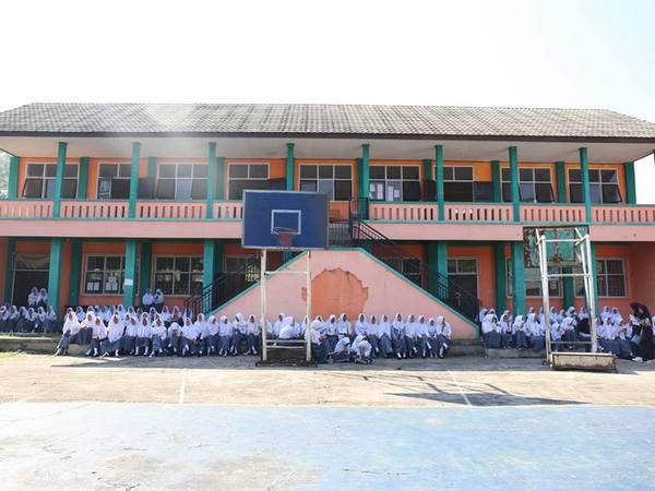 Suasana kampus SMK Muhammadiyah 1 Sumedang