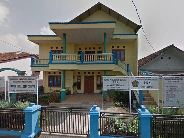 Kantor Desa Cigentur (foto: Google Street View)
