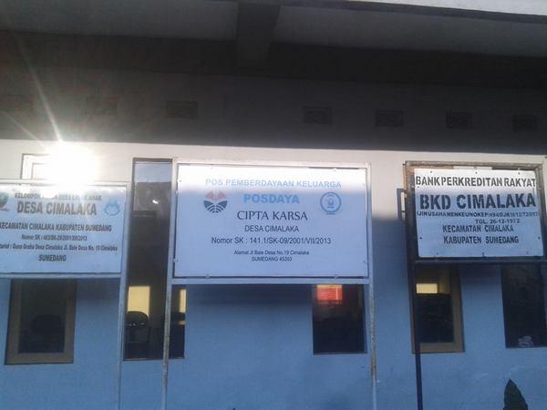 Kantor Desa Cimalaka (foto: facebook Aditya Q-monk)