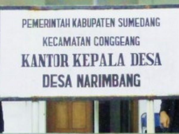 Kantor Kepala Desa Narimbang (foto oleh KKNM Unpad 2012)