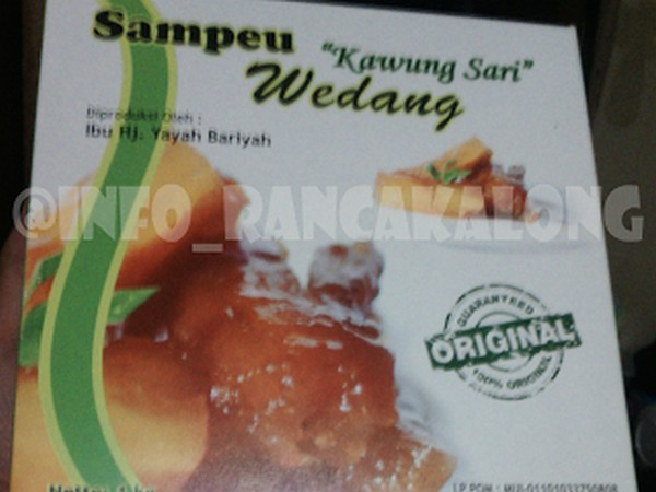 Kemasan Sampeu Wedang Kawung Sari (foto: Info Rancakalong)