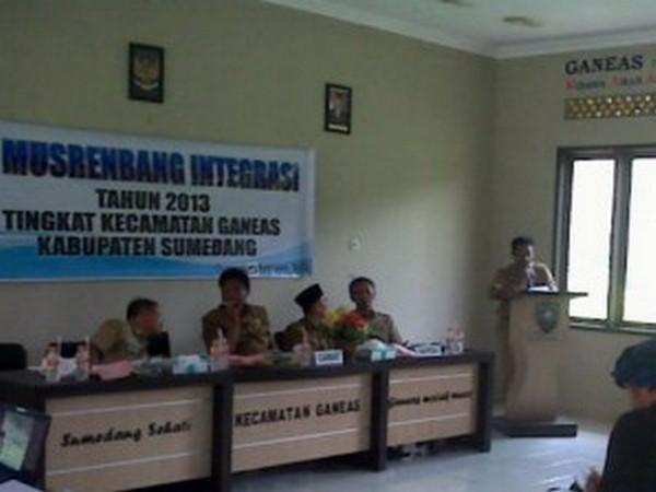 Acara Musrenbang Kecamatan Ganeas (foto oleh Sumedang Online)