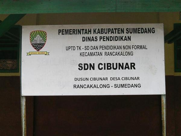 Papan nama SD Negeri Cibunar (foto: Data Referensi Pendidikan)
