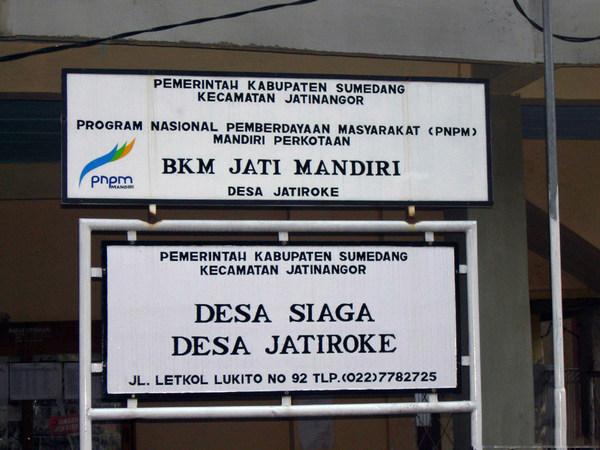 Papan nama Desa Jatiroke (foto: binpers.com)