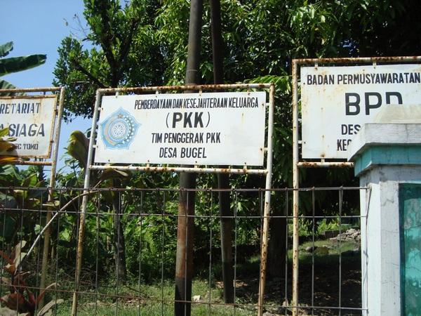 Papan penunjuk lokasi Kantor Desa Bugel (foto: internet)
