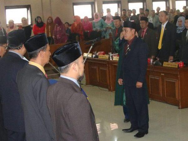 Pelantikan di DPRD Kabupaten Sumedang