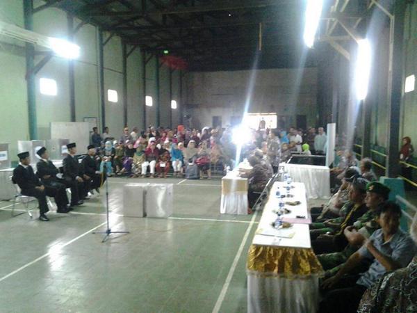 Suasana pemilihan Kepala Desa Tanjunghurip (sumber: internet)