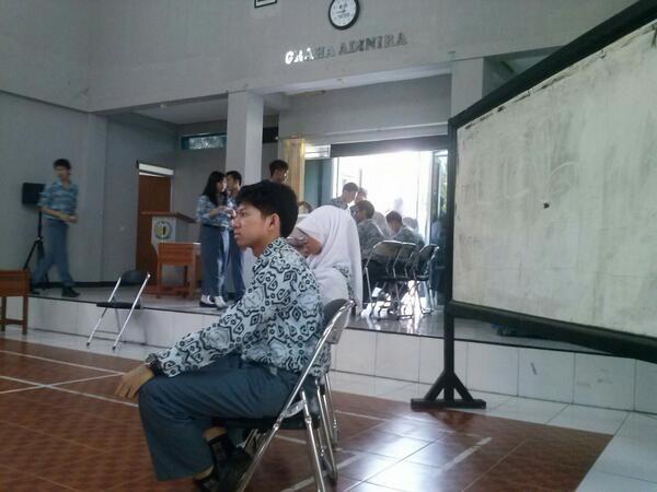 Pemilihan Ketua OSIS (foto: twitter @SMANSAunited)