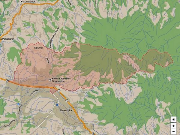 Kecamatan Cimanggung di Google Maps