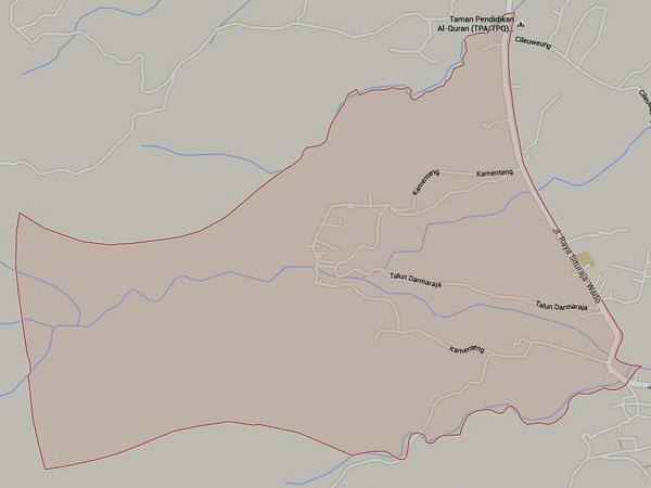 Peta wilayah Desa Cieunteung (gambar: Google Maps)