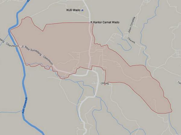 Peta wilayah Desa Cikareo Utara (gambar: Google Maps)