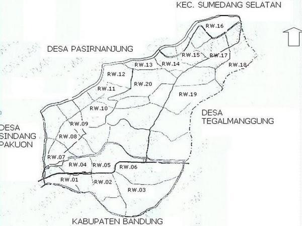 Peta wilayah Desa Cimanggung (gambar: Desa Cimanggung)