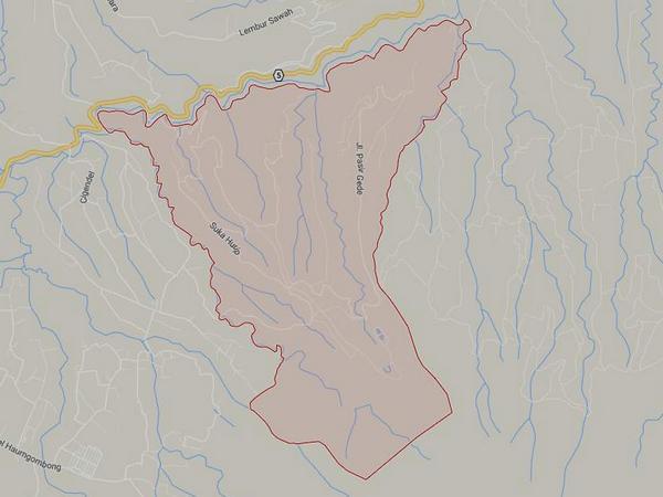 Peta wilayah Desa Cimarias (gambar: Google Maps)