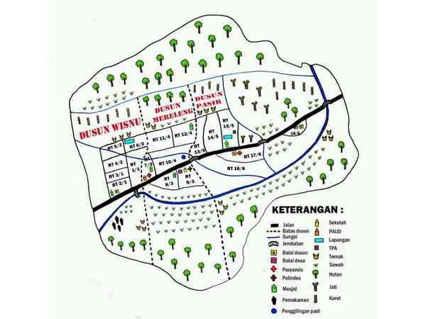 Peta Desa Cipelang (gambar oleh KKNM Unpad 2014)