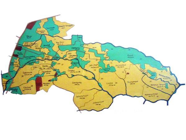 Peta Desa Conggeang Wetan (gambar oleh KKNM Unpad 2012)