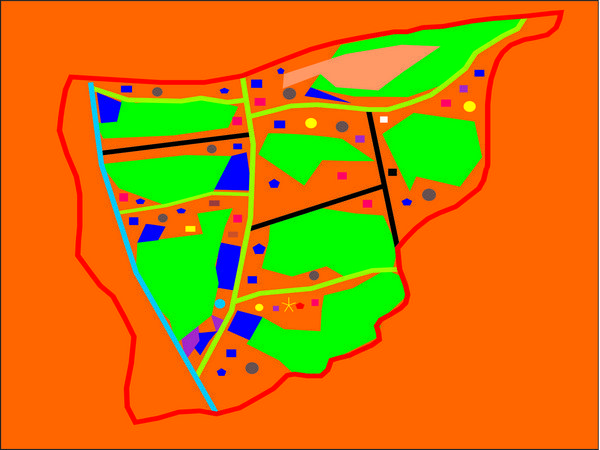 Peta wilayah Desa Banyuasih (gambar: KKNM Unpad Banyuasih)