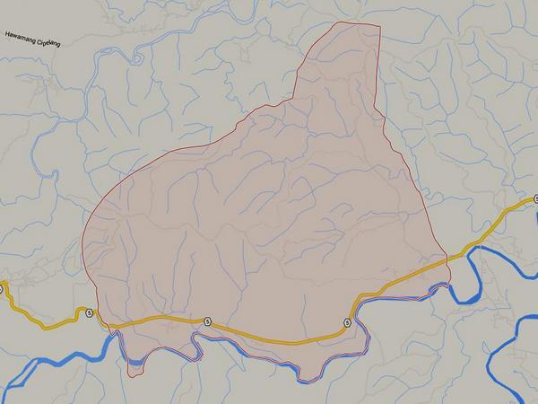 Peta wilayah Desa Bugel (gambar: Google Maps)