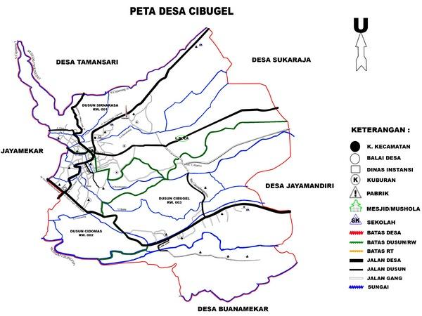 Peta Desa Cibugel (gambar: KKNM Unpad)