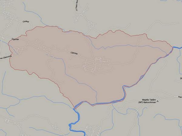 Peta wilayah Desa Cijambe (gambar: Google Maps)
