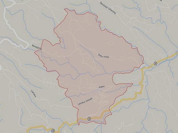 Peta wilayah Desa Cijeruk (gambar: Goole Maps)