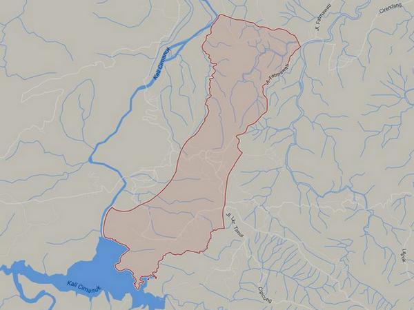 Peta wilayah Desa Cijeungjing (gambar: Google Maps)