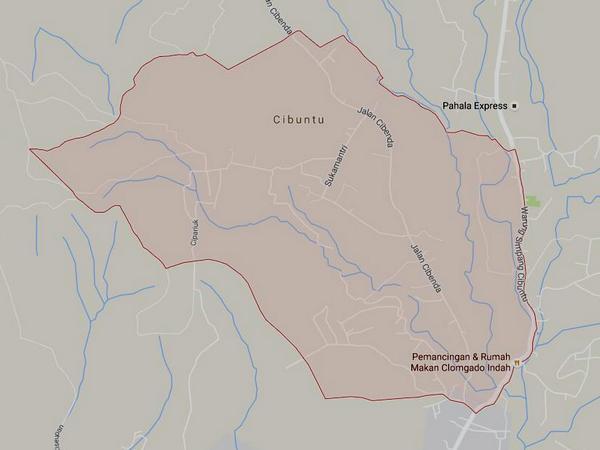 Peta wilayah Desa Cikahuripan (gambar: Google Maps)