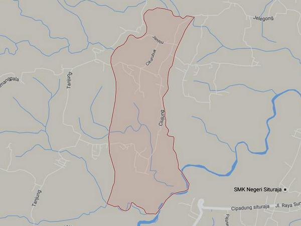Peta wilayah Desa Cimara (gambar: Google Maps)