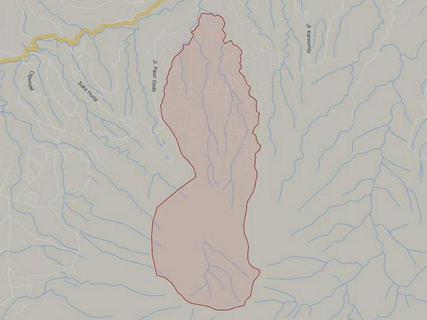 Peta wilayah Desa Cinanggerang (gambar: Google Maps)