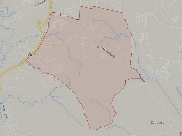 Peta wilayah Desa Cinanjung (gambar: Google Maps)