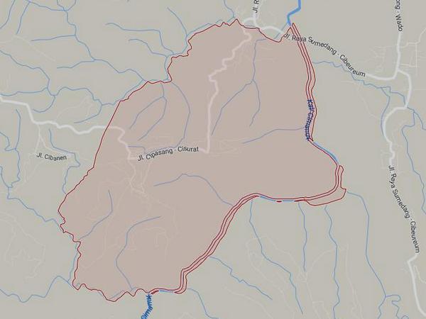 Peta wilayah Desa Cipasang (gambar: Google Maps)