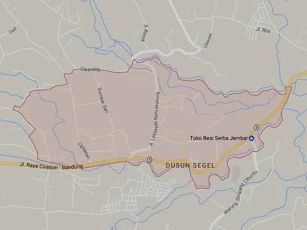 Peta wilayah Desa Ciptasari (gambar: Google Maps)