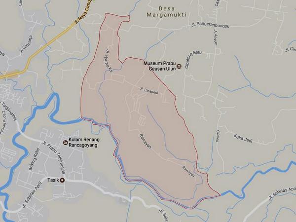 Peta wilayah Desa Cisalak (gambar: Google Maps)