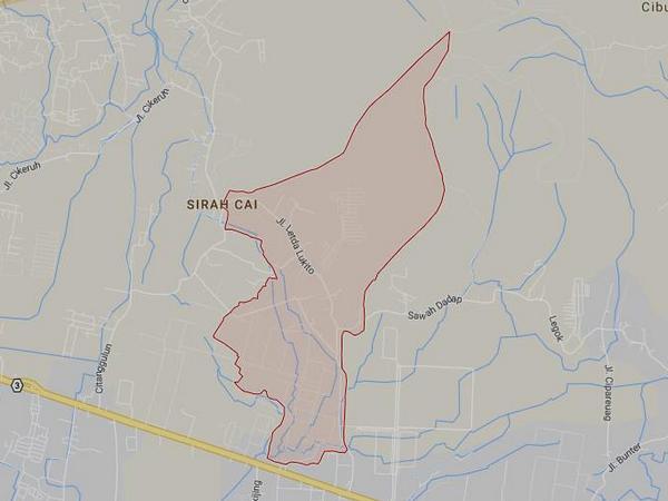 Peta wilayah Desa Cisempur (gambar: Google Maps)