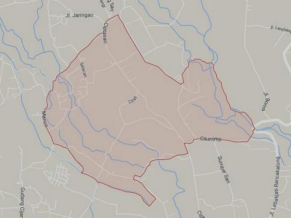 Peta wilayah Desa Citali (gambar: Google Maps)