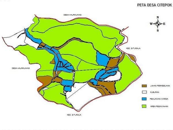 Peta Desa Citepok (gambar: facebook Desa Citepok)